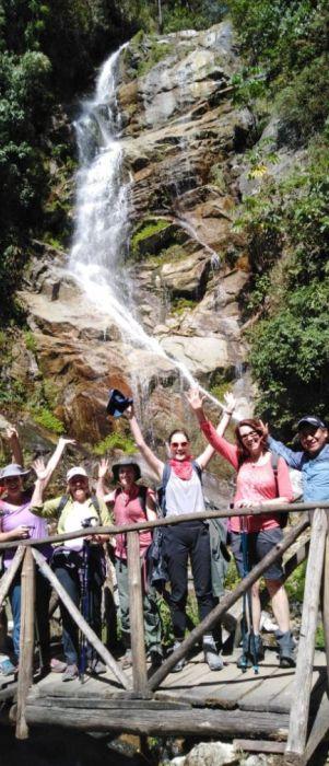 waterfall in inca trail